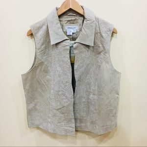 [Coldwater Creek] 100% Leather vest